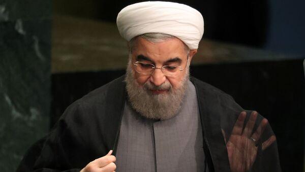 Der iranische Präsident Hassan Rouhani nach seiner Rede vor der UN-Vollversammlung - Sputnik France