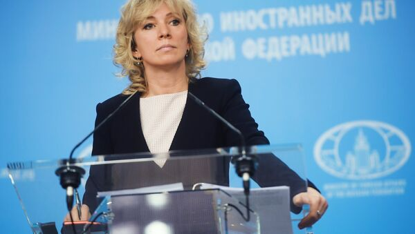 Russian Foreign Ministry Spokesperson Maria Zakharova during a briefing in Moscow - Sputnik France
