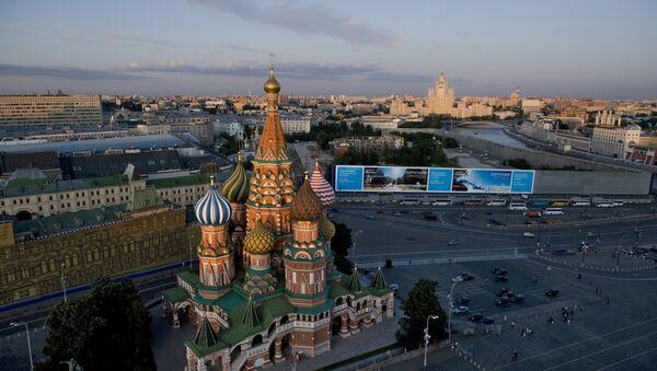 Basilius-Kathedrale in Moskau, Blick vom Spasski-Turm des Kremls - Sputnik France