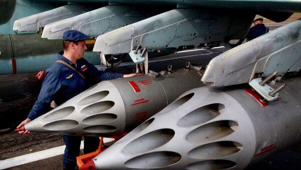 Preparing a Su-25 Grach assault aircraft to take off. File photo - Sputnik France