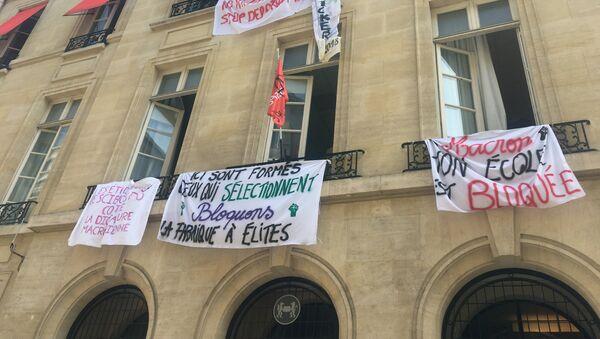 La «fabrique à élite» Sciences Po bloquée, les étudiants refusent de «finir comme Macron» - Sputnik France