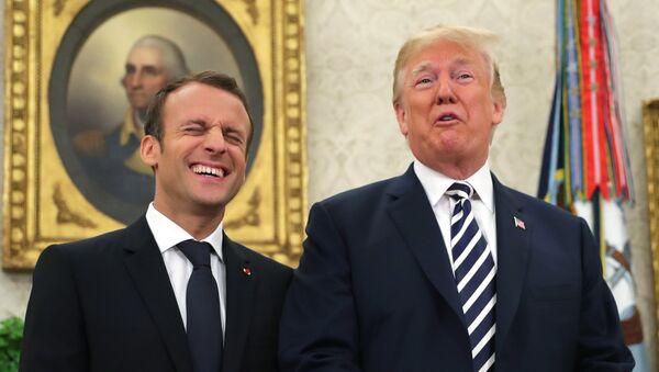 Emmanuel Macron et Donald Trump - Sputnik France