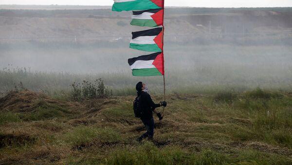 Участники акции протеста на границе сектора Газа с Израилем - Sputnik France