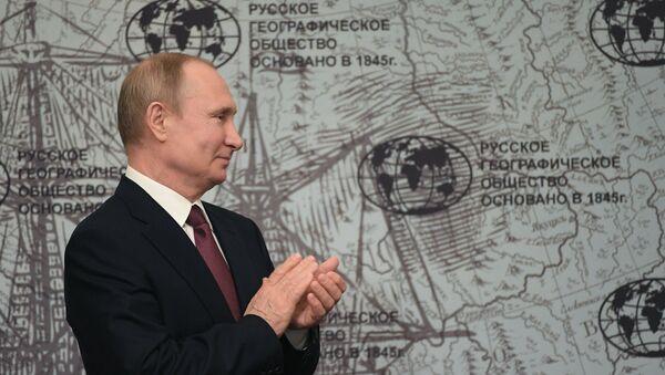 Рабочая поездка президента РФ В. Путина в Санкт-Петербург - Sputnik France