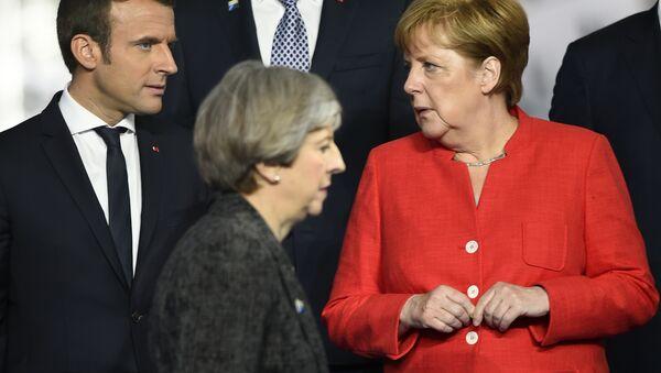 May, Merkel et Macron - Sputnik France
