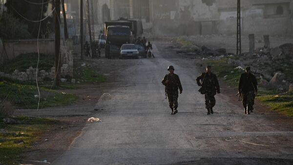Syrische Armee in der Provinz Hama - Sputnik France