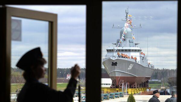 Спуск на воду ракетного корабля  Шквал в Санкт-Петербурге - Sputnik France