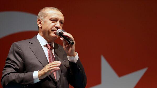 Recep Tayyip Erdogan intervient devant ses partisans à Istanbul (archive photo) - Sputnik France