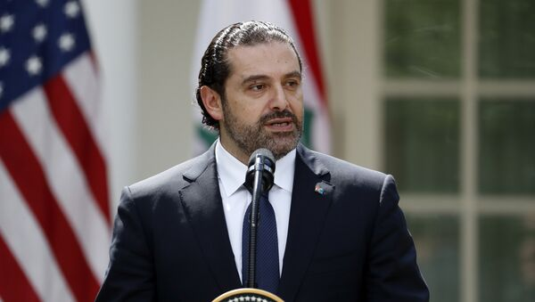 Lebanese Prime Minister Saad Hariri speaks during a joint news conference with President Donald Trump in the Rose Garden of the White House, Tuesday, July 25, 2017, in Washington - Sputnik France