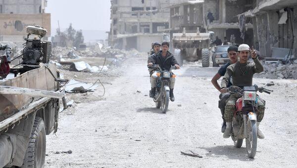 La situation dans le quartier du camp de Yarmouk, dans la banlieue sud de Damas - Sputnik France