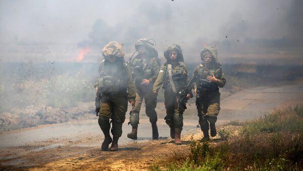 Les soldats israéliens, frontière entre Israël et Gaza - Sputnik France