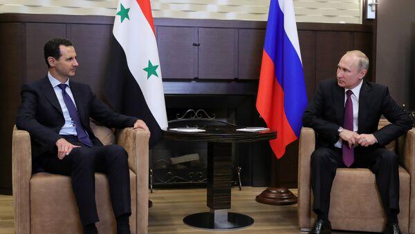 Vladimir Poutine et Bachar el-Assad - Sputnik France