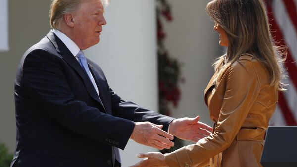 Melania et Donald Trump - Sputnik France