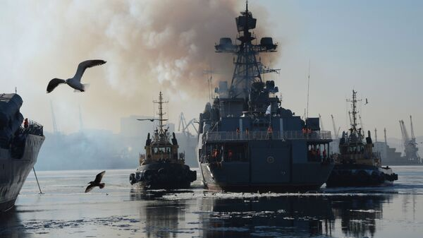 Le grand bâtiment russe Amiral Tribouts - Sputnik France