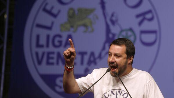 Il leader della Lega Nord Matteo Salvini - Sputnik France
