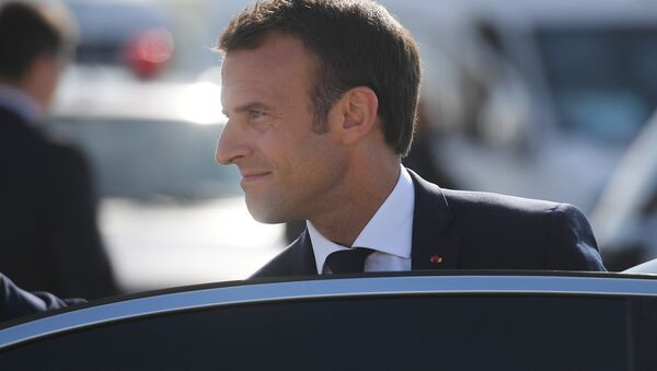 Macron  au Forum de Saint-Pétersbourg - Sputnik France