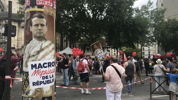 Les manifestations contre la politique de Macron se poursuivent à Paris le 26 mai - Sputnik France