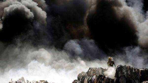 Un gigantesque incendie dans un parc d'attractions près de Strasbourg (image d'illustration) - Sputnik France