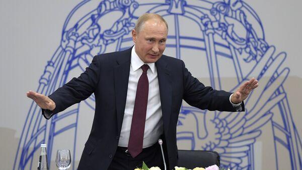 Vladimir Poutine lors du SPIEF 2018 - Sputnik France