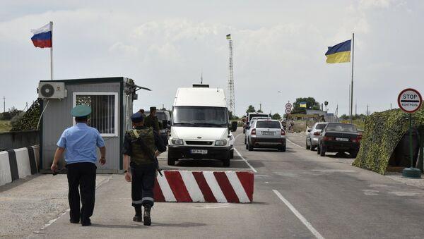 Border crossing point on Russia-Ukraine border. File photo - Sputnik France