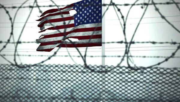 Le drapeau américain dans une prison (archive photo) - Sputnik France