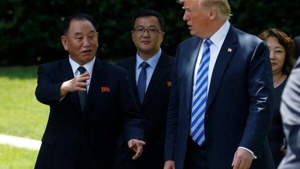 Kim Yong Chol et Donald Trump - Sputnik France
