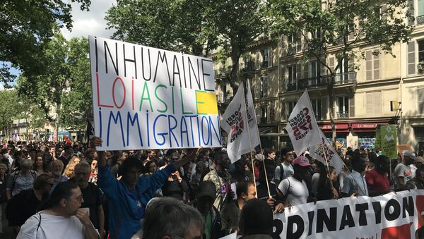 Manifestation pour le retrait du projet de loi asile-immigration à Paris, le 2 juin 2018 - Sputnik France