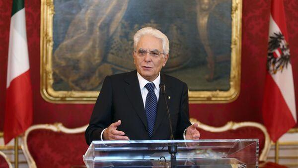Sergio Mattarella, presidente italiano - Sputnik France