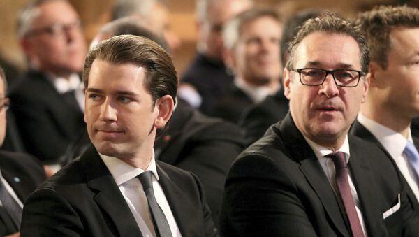 Sebastian Kurz et Heinz-Christian Strache - Sputnik France