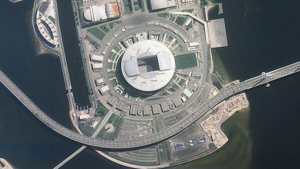 Les stades de la Coupe du Monde de la FIFA 2018 vus de l'espace - Sputnik France