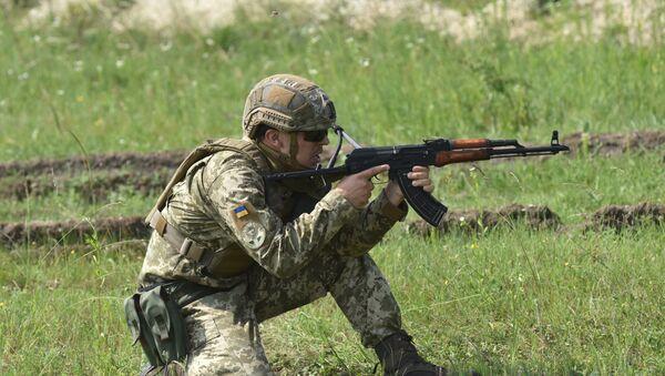 Un soldat l'armée ukrainienne (image d'illustration) - Sputnik France