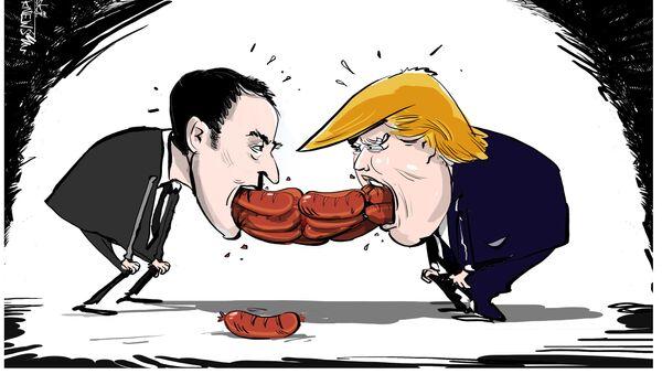 Les saucisses de Trump et Macron - Sputnik France
