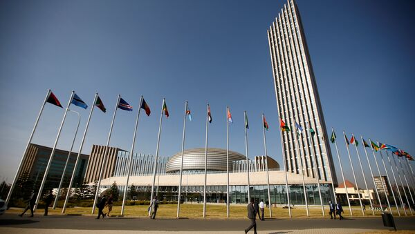 A general view shows the headquarters of the African Union (AU) building in Ethiopia's capital Addis Ababa, January 29, 2017 - Sputnik France