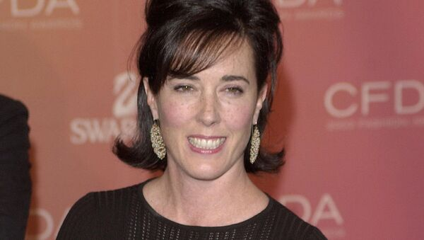 Kate Spade arrives at the Council of Fashion Designers of America awards in New York on June 2, 2003, at the New York Public Library - Sputnik France