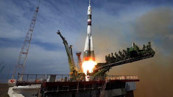 Le lancement du vaisseau spatial Soyouz MS-09 - Sputnik France