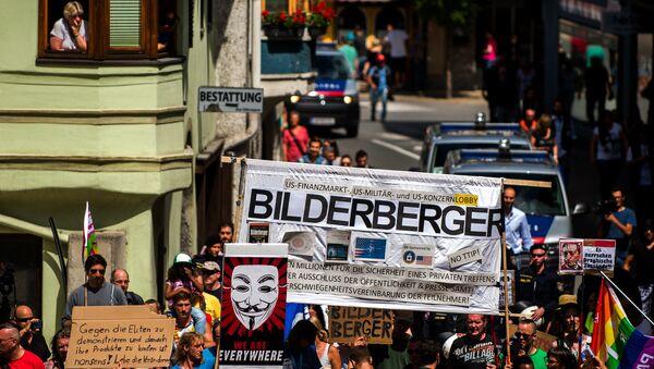 Le proteste contro la coferenza Bilderberg in Austria (foto d'archivio) - Sputnik France