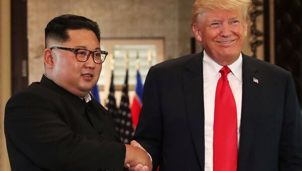 Kim Jong-un et Donald Trump - Sputnik France