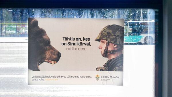 Une pub affichée sur un bus de Tallinn - Sputnik France