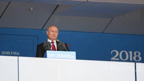 Vladimir Poutine à la cérémonie d'ouverture du Mondial 2018 - Sputnik France