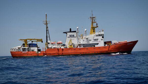 El barco de rescate Aquarius - Sputnik France