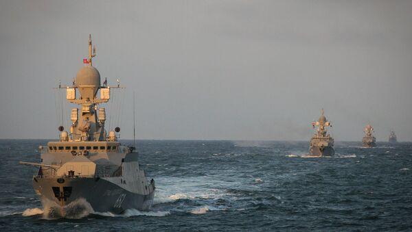 Des manoeuvres de la Flottille de la Caspienne - Sputnik France