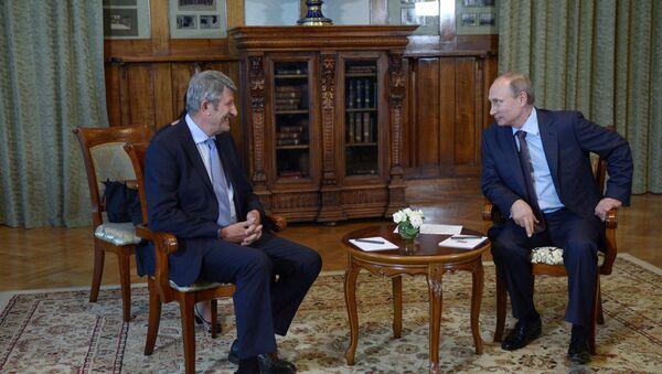 Встреча Владимира Путина с Филиппом де Вилье в Ялте - Sputnik France