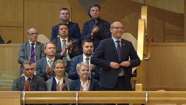 Парламент Шотландии приветствует аплодисментами спикера Верховной Рады Украины Андрея Парубия - Sputnik France