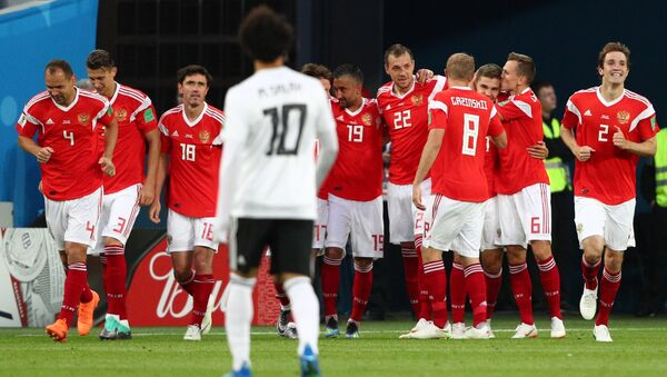 Russian National Football Team During Match With Egypt. 2018 FIFA World Cup - Sputnik France