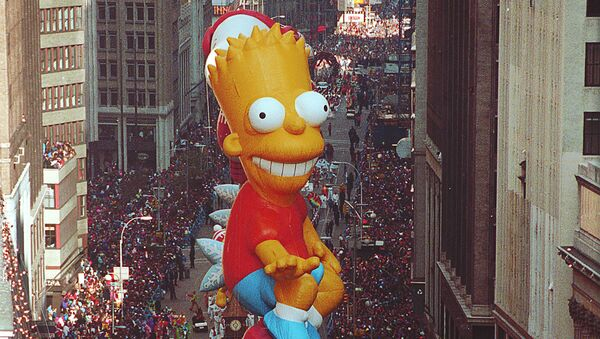 Bart Simpson makes his debut on his skateboard in the 64th annual Macy's Thanksgiving Day Parade down Broadway in New York City - Sputnik France
