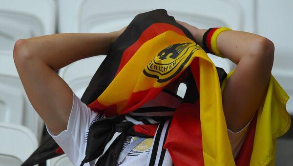 Un supporter allemand après la fin du match contre la Corée du Sud - Sputnik France