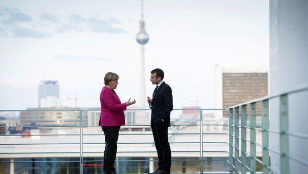 Angela Merkel et Emmanuel Macron - Sputnik France