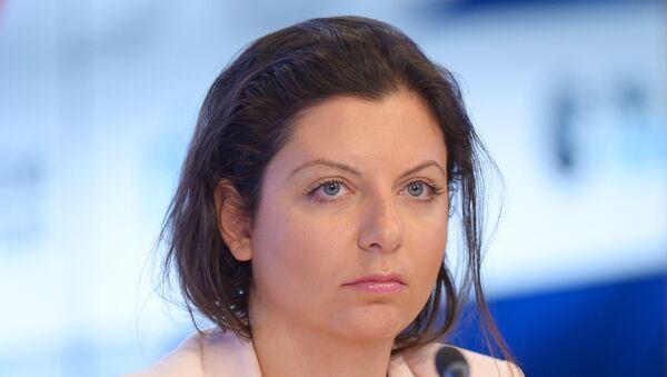 Sputnik- und RT-Chefredakteurin Margarita Simonjan - Sputnik France