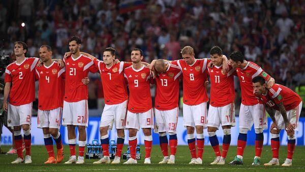 L'équipe russe pendant les tirs au but en quarts du Mondial 2018 contre la Croatie - Sputnik France