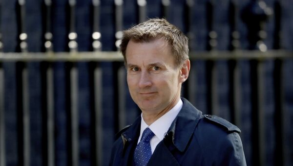 Britain's Health Secretary Jeremy Hunt arrives for a cabinet meeting at 10 Downing Street in London, Tuesday, May 1, 2018. - Sputnik France